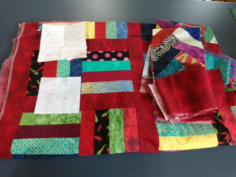 Ph 3 Julie Cooper large red quilt and fabric